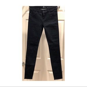 Like new 7 for all Mankind crystal skinny jean